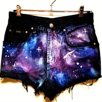 Bad Girls Club — Handmade Galaxy Shorts