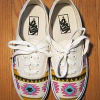 Bad Girls Club  Hand Painted Aztec Vans
