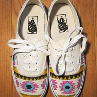 Bad Girls Club — Hand Painted Aztec Vans