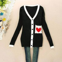 Women Korean fashion knitted sweater cardigan jacket