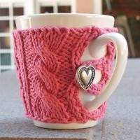 My Beautiful Life / A pink heart mug sweater