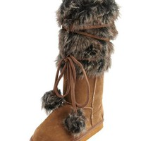 Wrapped Fur-Cuff Sueded Boot: Charlotte Russe