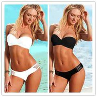 New Hot Sexy 2pcs LADY/WOMEN Cut Out Bandeau Bikini Paded Push Up Swimwear S M L