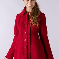 Pleat Front Dress Coat
