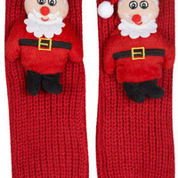 ELF Christmas Santa  Slipper Socks