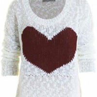 LOVE Stone Oversized Jumper With Ox Blood Heart - Love