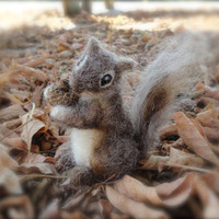 Needle Felted Miniature Squirrel