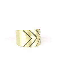 Redundant Chevron ring | betsy & iya