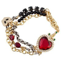 Disney Villains Crystal Evil Queen&#x27;s Heart Box Snow White Bracelet by Disney Couture | Jewelry | Disney Store