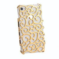 Amazon.com: Electroplating Hollow Pattern PC Case Hard Back Cover for iPhone 4S/4, Gold: Cell Phones &amp; Accessories