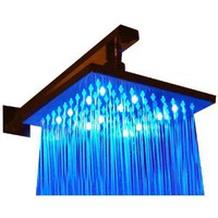 Alfi LED5001 8-Inch Square Multi Color LED Rain Shower Head: Home Improvement