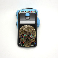 Handmade Hard Case for Samsung Galaxy S2 Skyrocket: Bling Skull (customized are welcome)