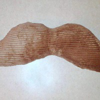 Brown large plush mustache pillow