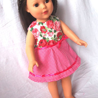 American Girl Doll Clothes, 18 in Doll, Pink Dress, Gift, Girl