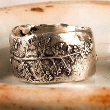Fern Lace Ring by ardent1 on Etsy