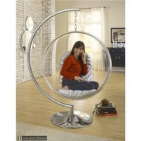 Amazon.com: Eero Aarnio Bubble Chair With Silver Seat Cushion: Home & Kitchen