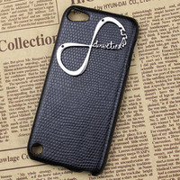 "Black Hard Case Cover With One Direction ""Directioner"" Infinity for Apple Ipod Touch 5, iPod Touch 5th,iTouch 5,iPod Touch 5"