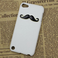 Black moustache And White Hard Case Cover for Apple Ipod Touch 5, iPod Touch 5th,iTouch 5,iPod Touch 5