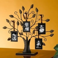MEDIUM FAMILY TREE PICTURE FRAME - MEDIUM FAMILY TREE WITH FOUR PICTURE FRAMES - Frame