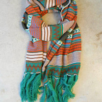 Knitted Navajo Fringe Scarf [3415] - $23.80 : Vintage Inspired Clothing & Affordable Fall Frocks, deloom | Modern. Vintage. Crafted.