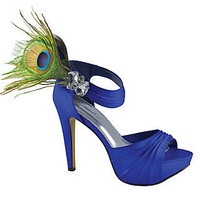 Prom Shoes, High Heels, Sexy Shoes, Formal Dress Shoes- PromGirl: Peacock by Johnathan Kayne in Royal Blue