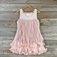 Pleats & Plume Dress, Sweet Women's Bohemian Clothing
