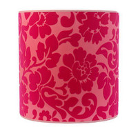 Heal&#x27;s | Designers Guild Coromandel Pink Flocked Drum Lampshade &gt; Shades