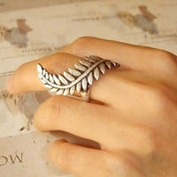 Roman Empire Caesar Leaf Ring Bronze or Silver or Gold
