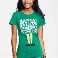 Elf Santas Coming Tee