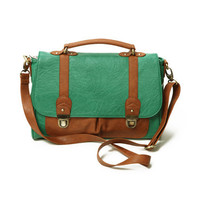 Contrast Color Green Single Shoulder Bag [AB1006] - $71.99 :
