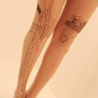 Guns Tattoo Tights