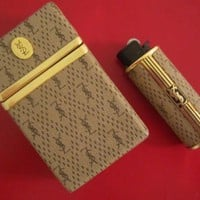 YVES SAINT LAURENT Original Vintage Cigarette Case Lighter Holder YSL