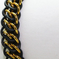 Blackened Gold Bracelet