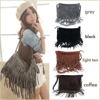 Fashion Tassel Celebrity Fringe Shoulder Messenger Cross Body Bag Tote Handbag