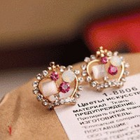 Shiny Crowns Fashion Earrings | LilyFair Jewelry