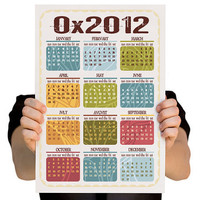 2012 Calendar for Computer Geeks Hexadecimal by TheWallaroo