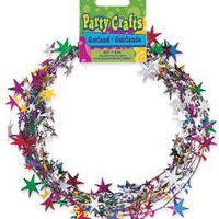 Multi Star Wire Garland 20 Feet/Pkg-