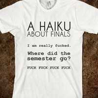 A HAIKU ABOUT FINALS - glamfoxx.com