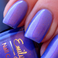 Nail polish - &quot;Split Personality&quot; pink/purple duo chrome with flakies