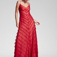 Tadashi Shoji Lace Gown & Juicy Couture Earrings | Bloomingdale's