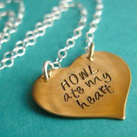 Howl ate my heart Necklace | Spiffing Jewelry