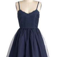 Navy Too Late Dress | Mod Retro Vintage Dresses | ModCloth.com