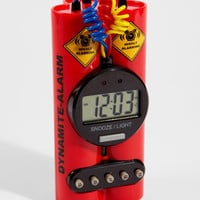 Dynamite Alarm Clock | Cartoon Dynamite Clock | fredflare.com