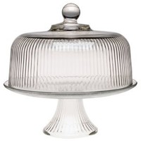 Anchor Hocking Monaco Cake Set with Ribbed Dome: Amazon.com: Kitchen & Dining