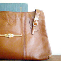 vintage leather country messenger bag in medium by Vintagefix