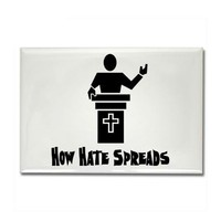 Hate From The Pulpit Rectangle Magnet by godless_heathen- 378968351