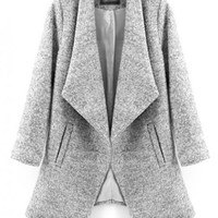 Gray Laple Pocket Wool Coat$169.00