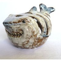 Shark Candle Holder Ceramic Unique Beach / Ocean Decor: Home & Kitchen