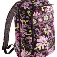 NWT VERA BRADLEY $98 LAPTOP BACKPACK LARGE BOOK BAG Purple Punch