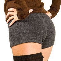 Charcoal Small Sexy Low Rise Stretch Knit KD dance Yoga & Dance Boy Shorts High Quality, Sexy, Cute